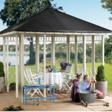 Plus havepavillon i træ